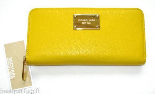 92ba63b8bbd3 Michael Kors Yellow Wallet | eBay