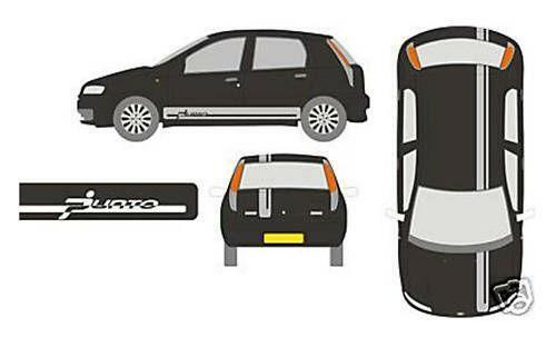 fiat punto graphic stickers ebay. Black Bedroom Furniture Sets. Home Design Ideas