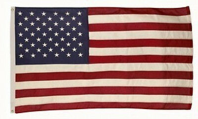 3x5 FT US American Flag Best 100% Cotton Valley Forge Flag Embroidered & Sewn Cotton Embroidered American Flag