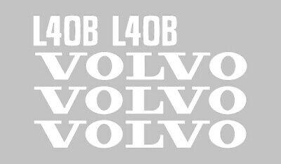 Volvo L40b Wheel Loader Tractor Vinyl Decals Sticker Graphics Set Kit L 40 B