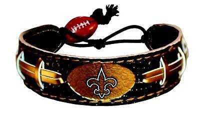 NFL-Team Color Leather Football Bracelet - Pick Team