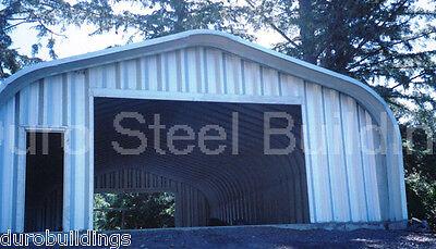 Durospan Steel 30x28x14 Metal Garage Shop Man Cave Building Kits Factory Direct