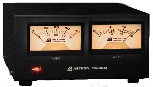 Astron SS-30M Desktop Switching Power Supply with Meters, 13.8V, 30A Max
