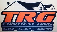 TRG CONTRACTING siding specialist. Decks and fence