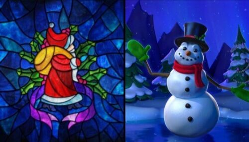 Yuletide window + Enchanted Snowman AtmosFx Projection Christmas Decoration set
