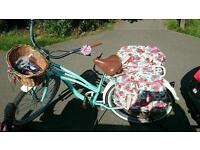 Ladies bike with child trailer plus extras
