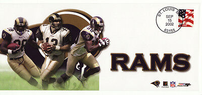 KURT WARNER ST LOUIS RAMS 2002 NFL FOOTBALL USPS EVENT COVER