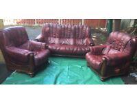 Wood frame sofa set