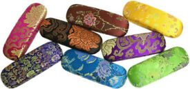 Oriental style prescription glasses case - brand new and variety of colours available