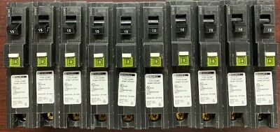 Lot Of 10 Square D Homeline Hom115pcafi 15a Plug In Arc-fault Breaker New