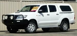 2012 Toyota Hilux KUN26R MY12 SR (4x4) White 5 Speed Manual Dual Cab Pick-up Lismore Lismore Area Preview