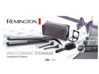 Brand new! Remington pro-ceramic titanium straightener gift set