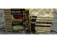 10 BOXED PSP GAMES+13 BOXED UMD MOVIES+ACTION REPLAY MAX CHEAT SYSTEM