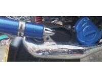 Pm59 chrome exhaust gilera runner typhoon 125 172 183