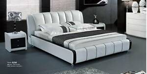 Modern Leather Queen Size Bed (L829)