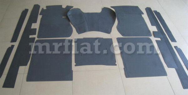 Mercedes W110 W111 Fintail Complete Grey Floor Mat Door Sill Set 12 Pcs New
