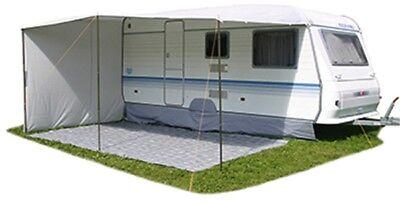 Sonnendach Vordach mit Seitenwand für Umlaufmaß 820-860 cm Tiefe 240cm Wohnwagen