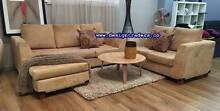 BARGAIN OF THE WEEK!  CARAMEL L SHAPE SOFA REVERSIBLE CHAISE Sydney Region Preview