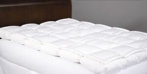 Slightly used Double Feather Down Bed Mattress Topper & cover