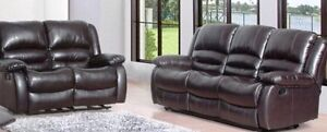 CLEAR OUT!!! Brown Leather Sofa & Love-Seat (RECLINERS)