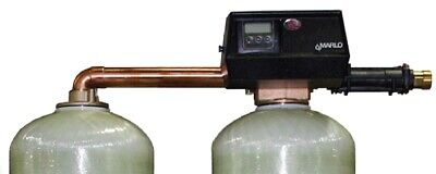 """NEW 1-1/2"""" Fleck 9500 Twin Water Softener VALVE SXT Control Marlo MAT Commercial"""