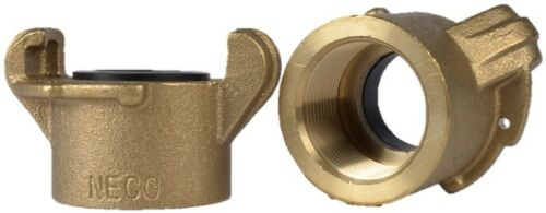 """Tank Coupling for Sandblasting Machines with 1-1/4"""" threaded piping, Brass."""
