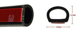 160-4M-D-shape-Car-Truck-Motor-Door-Rubber-Seal-Strip-Weatherstrip-Seals-Hollow