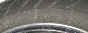HANKOOK TIRES FOR SALE-235 75R/17