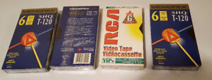 4 new VHS blank tapes