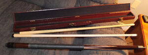 Embassy 18oz pool cue with spare shaft and hard case St. John's Newfoundland image 1