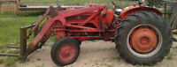 International B275 Tractor with Loader, Forks and Bucket WORKS