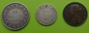 1885 Newfoundland coin lot.........OLD RARE COINS