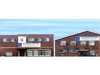 4-5 personnel OFFICE RENTAL £150wk - 5mins fr M27/Hilsea/P'mouth - Fully Serviced + 24 hr Access