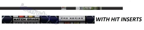 5 MM AXIS PRO SHAFTS WITH HIT INSERTS & NOCKS  1/2 DZ 5% DISCOUNT FOR A DZ