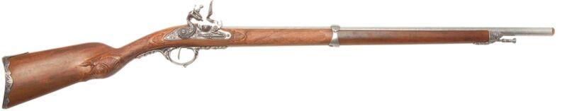 Denix Napoleonic  Model 1807 Replica Flintlock Hunting Rifle - Gray Finish
