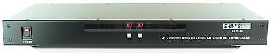 Shinybow SB-5526 4x2 Component Video Digital/Analog Audio Matrix Switch (Analog Audio Matrix Switch)