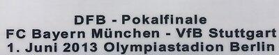Match Details DFB Pokal Finale 2013 FC Bayern vs VFB Stuttgart Print Cup Final