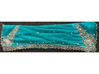 Beautiful scarf( Green dupatta) Amazing Embroidery-Urgent
