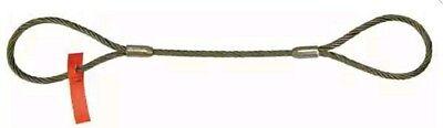 Lift-all 38ezeex10 Sling Wire Rope 10 Ft L Vert Cap 2200 Lb