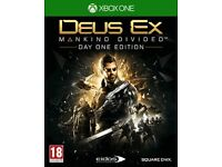 Deus Ex: Mankind Divided Day One Edition , XBOX ONE , brand new sealed ! price stands , no offers !