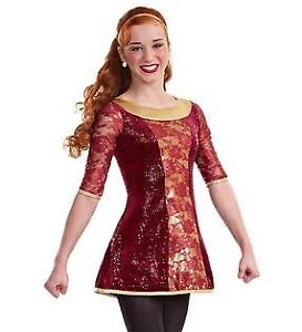 Red and Gold Celtic Dress