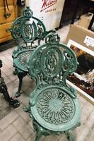 HIGH BACK CAST IRON CHAIR