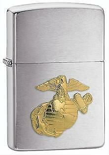 Zippo Marines 280MAR Brushed Chrome Unisex Lighter