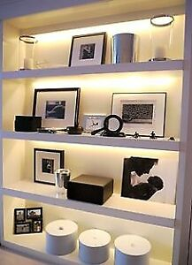 Upgrade your display cabinets and shelves with linear lighting