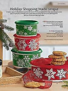 Brand New 4pc Tupperware Christmas Canister Set