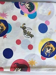 Sailor moon Flat sheet and pillow case