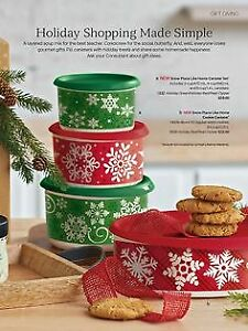 Brand New 4pc Tupperware Christmas Canisters Set
