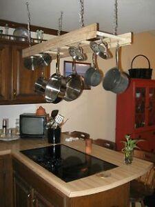 Antique Wood Ladder Kitchen Pot Racks & Towel Racks Gatineau Ottawa / Gatineau Area image 6