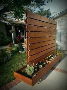 Rustic Planters & Privacy Fences! Custom Made Only**