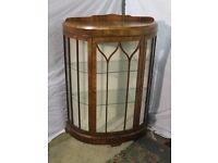 Walnut 1930s display cabinet £75.00